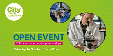 City College Southampton Open Event - 16th October tickets