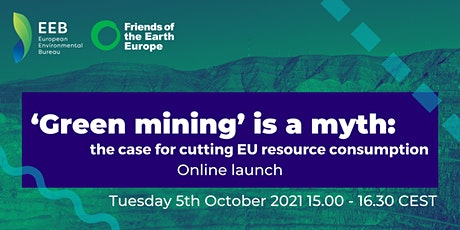 Online Report Launch - 'Green mining' is a myth tickets