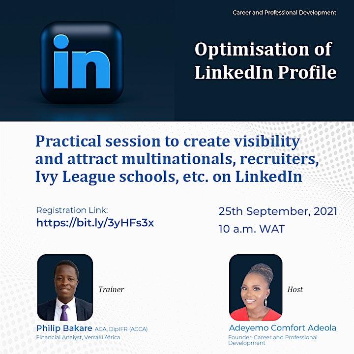 Optimisation of LinkedIn Profile image