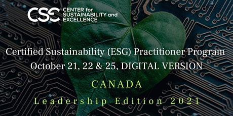 Certified Sustainability ESG Practitioner Program, Leadership Edition 2021 tickets