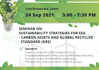 Sustainability Strategies for ESG – Carbon Assets and GRS tickets