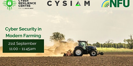 Cyber Security for Modern Farming tickets