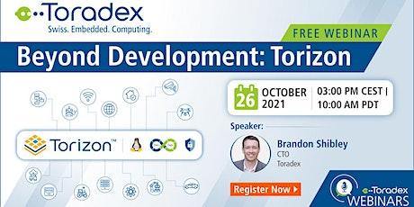 Webinar: Beyond Development: Torizon tickets