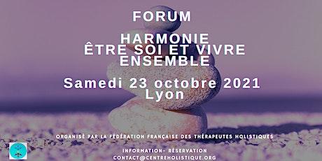 Forum Harmonie: ETRE SOI ET VIVRE ENSEMBLE billets