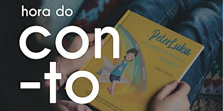 Hora do conto: Peterluka pela voz da autora Renata Pereira bilhetes