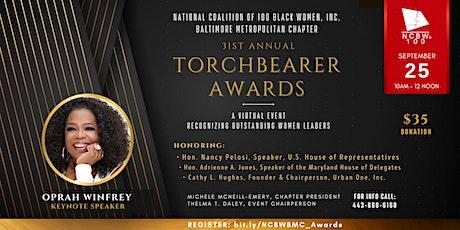 31st  Annual NCBW Torchbearer Virtual Awards Program ingressos