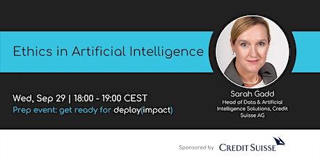 Ethics in Artificial Intelligence | Webinar by women++ tickets