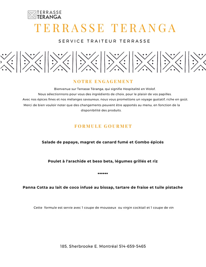 Terrasse Teranga - Voyage Culinaire et Musical image