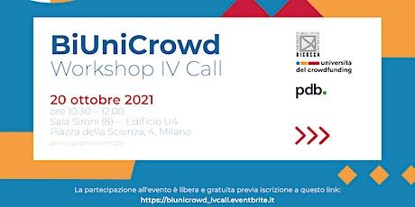 BiUniCrowd Workshop IV Call biglietti