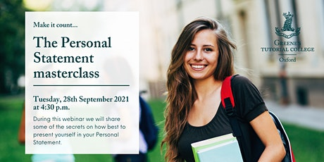 The Personal Statement masterclass tickets