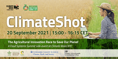 ClimateShot - The Agricultural Innovation Race to Save Our Planet tickets