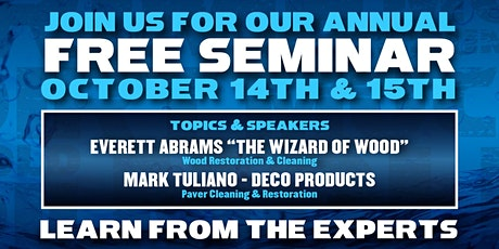 2021 FREE Fall Training & Education Seminar - Learn From The Experts tickets