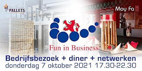 Fun in Business - bedrijfsbezoek + netwerken (inclusief diner) tickets