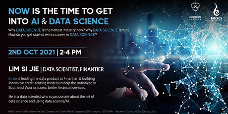 Now is the time to get  into AI & Data Science tickets