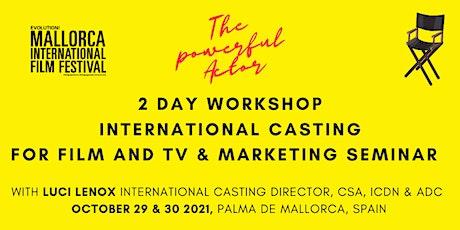 LUCI LENOX Casting for Film and TV  & International Marketing Seminar entradas