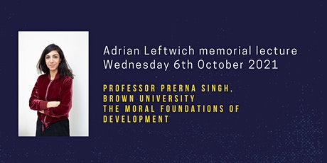 Adrian Leftwich memorial lecture tickets
