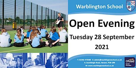 Warblington School - Open Evening 28 September  2021 tickets