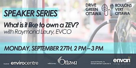 What Is It Like To Own a ZEV? (EN/FR) tickets
