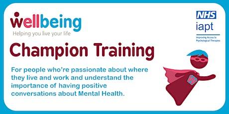 Wellbeing Champion Training (Online) October tickets