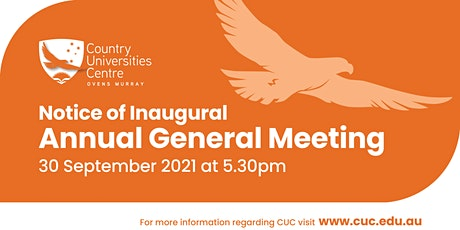 Country Universities Centre Ovens Murray AGM tickets