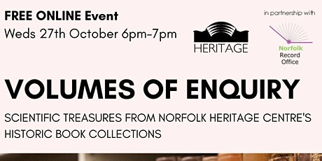 Volumes of Enquiry: Scientific Treasures from NHC's Collections tickets