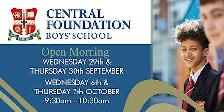 Open Morning at Central Foundation Boys' School - 9.30am-10.30am tickets