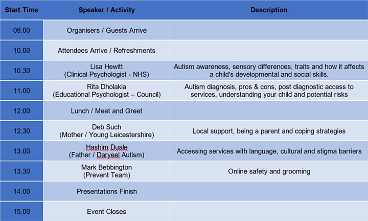 Autism Support and Online Safety Event for Parents image