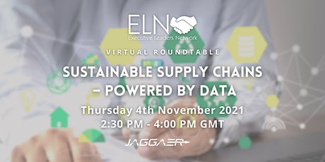 VIRTUAL ROUNDTABLE: Sustainable Supply Chains – Powered by Data tickets