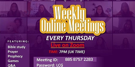 WEEKLY BIBLE STUDY AND PRAYER MEETING tickets
