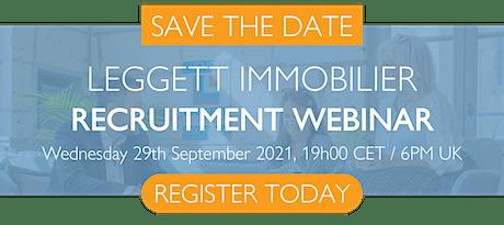 Leggett Immobilier Recruitment Webinar billets