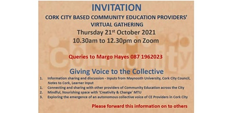 A Gathering of Cork City Community Education Providers 21st October 2021 tickets