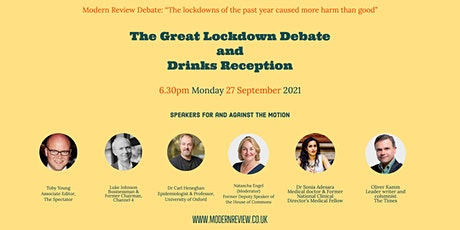 The Great Lockdown Debate and Drinks Reception tickets