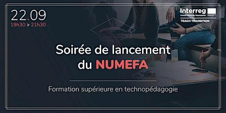 Soirée de lancement du NUMEFA : formation supérieure en technopédagogie billets