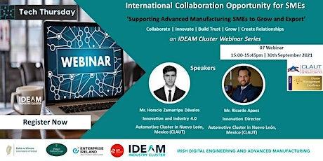 Tech Thursday - International Collaboration Opportunity for SMEs tickets