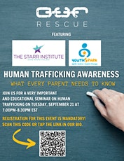 Human Trafficking Awareness: What Every Parent Needs to Know tickets