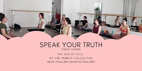 Speak your truth - Throat Chakra - Yoga Meditation Breath work tickets
