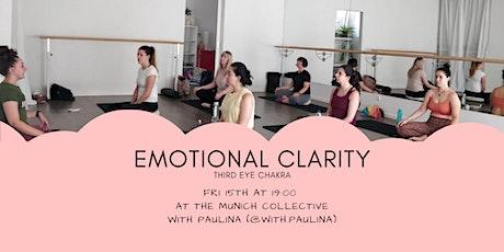 Emotional Clarity - Third Eye Chakra - Yoga Meditation Breath work tickets
