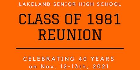 Lakeland Sr. High School Class of '81 Reunion tickets