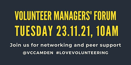 November 2021 Volunteer Managers' Forum tickets