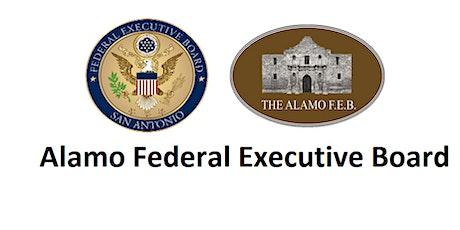 Vendor Table at Alamo Federal Executive Board Opening Retreat boletos