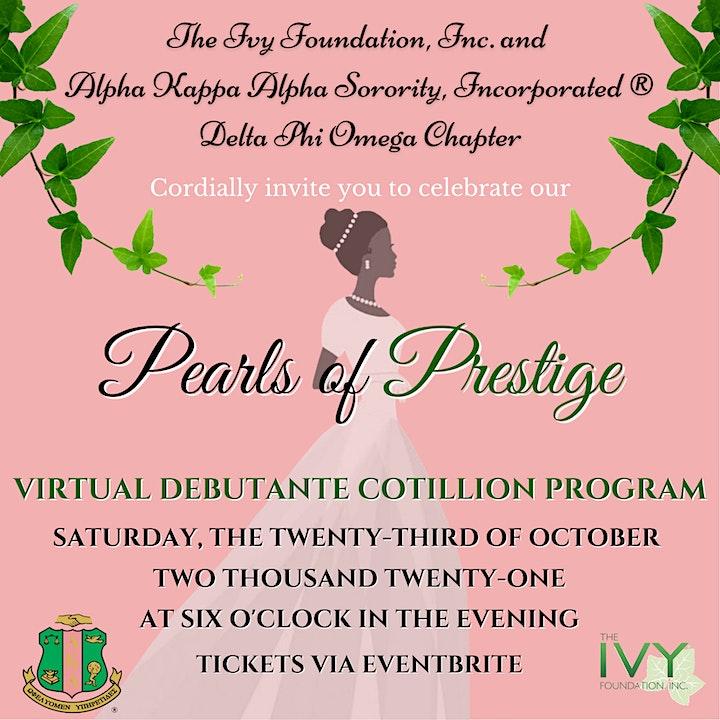 2021 Pearls of Prestige Virtual Debutante Cotillion Program image