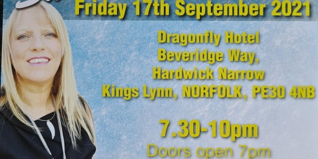 An Evening of Mediumship with the wonderful Sue Hind Fri 17/09/21 7pm-10pm tickets