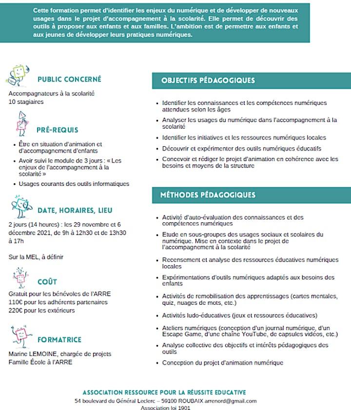 Image pour FORMATION Développer le numérique dans l'accompagnement à la scolarité