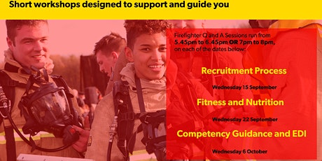 Firefighter Recruitment Q and A Workshop - Wednesday 22 Sept 7pm-8pm tickets