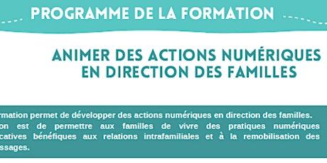 FORMATION Animer des actions numériques en direction des familles billets