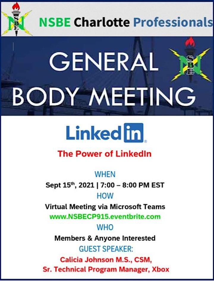 September 2021 General Body Meeting image