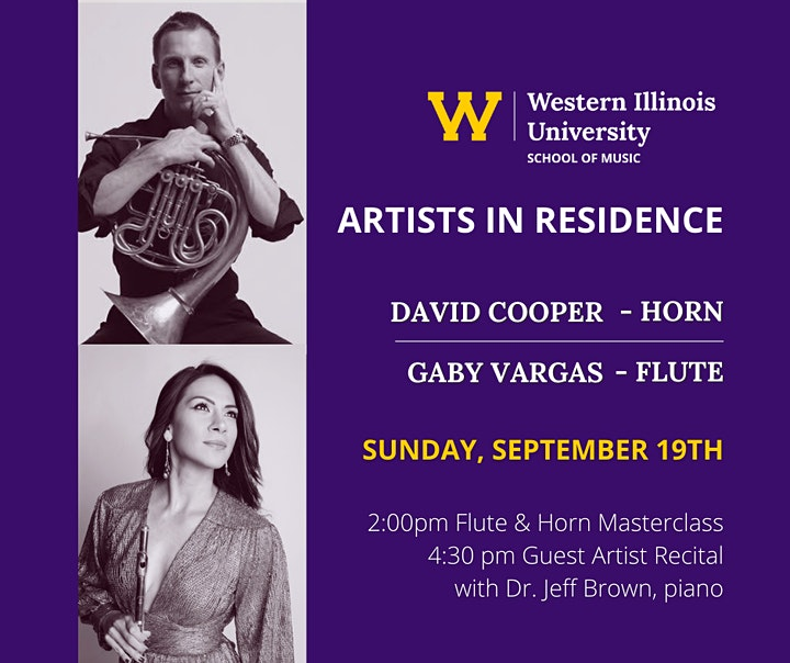 Artists in Residence: David Cooper, horn; Gaby Vargas, flute image