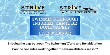 Swimming through Injuries, Can it be done safely tickets