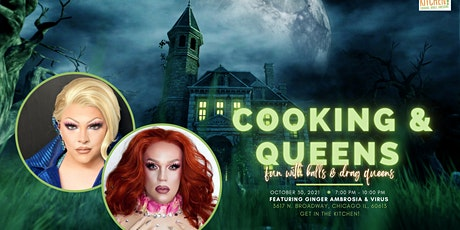 Halloween Fun with Balls & Drag Queens! Cooking & Cocktail Party! tickets
