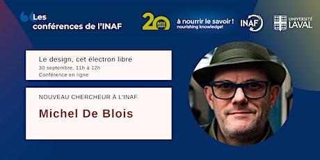 Conférences de l'INAF - Nouveau chercheur : Michel De Blois billets